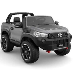 Toyota Hilux Ute 2021, 4x4 4WD Licensed Electric Ride On Toy for Kids - Grey