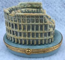 New ListingLimoges France Roman Colosseum Trinket Box Peint Main 505/1000 Mint