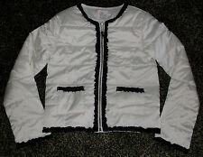 NWT Girls Ruffle Trim Lightweight Jacket  Size M 7/8