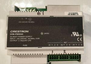 Crestron DIN-PWS50 DIN Rail 50 Watt Cresnet Power Supply - used