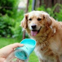 350,550ML Dog Water Bottle Bowl Pets Cup Drinking Travel Outdoor Portable Feeder