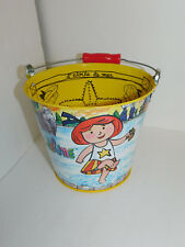 Madeline Yellow Tin Bucket Metal Pail Container Pepito 1997