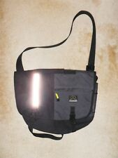 Yak Pak Black XL Messenger Bag Shoulder Laptop Reflective Tote Brooklyn-Awesome!