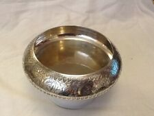 Indian Silver Plate Bowl.