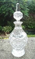 ANTIQUE VICTORIAN / EDWARDIAN HAND CUT GLASS SCENT / PERFUME BOTTLE ENGLISH
