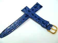 18 mm Blu Cinturino Orologio Lavorazione a Coccodrillo pelle 18003