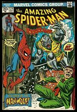 AMAZING SPIDER-MAN #124 (1973) 1st APPEARANCE of MAN-WOLF MARVEL MOVIE VF+