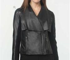 Petite Leather Biker Jackets for Women