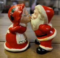 "Vintage Kissing Mr. And Mrs. Santa Claus 21/2"" Figurines Porcelain"