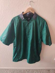 Easton green short sleeve batting jacket size Large