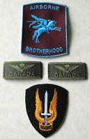 Canadian Airborne Para Paratrooper Parachutists 4 Set Badges Lot