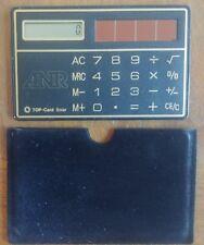 Vintage solar calculator, wallet size