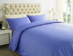 Deluxe Hotel ,100% Cotton Sateen stripe duvet cover with Pillow 600 Thread Count