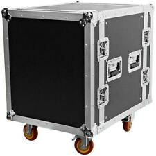 Heavy Duty 12 Space ATA Rack Case with 4 Inch Casters - 12U Server Network Case