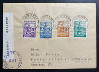 1946 Leipzig Germany Allied occupation Censored Cover to Frohnleiten Fair Stamp
