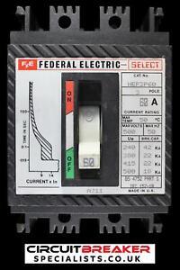 FEDERAL ELECTRIC 60 AMP 22 kA TRIPLE POLE MCCB HEF3P60 SELECT