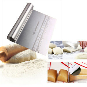 Stainless Steel Pastry Bench Scraper Dough Cutter Divider Pizza Cake Cookies