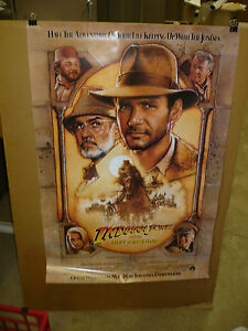 INDIANA JONES AND THE LAST CRUSADE nr mint orig rolled 1-sht / movie poster