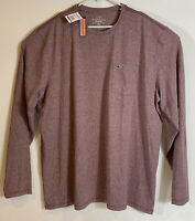 Vineyard Vines Mens Edgartown Embroidered L/S Pocket Tee Sz 2XL Purple- NEW