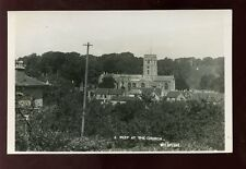 Somerset WEDMORE Peep at the Church RP PPC c1950s?