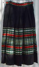 1960s Bavarian Oktoberfest Trachtenhaus Wiesbaden Germany Wool Skirt Shawl Wrap