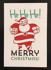Santa Claus Ho Ho Ho! Merry Christmas Garden Small Mini Flag Banner 12.5x18 New
