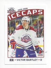 2015-16 St. John's IceCaps Update set Victor Bartley (Kunlun Red Star)