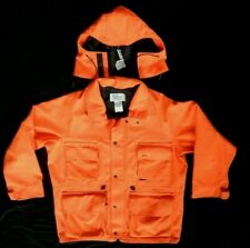 10X  Blaze ORANGE Gore-Tex  Rainwear Hunting Jacket ~ Coat Size Large