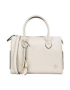 SAMSONITE Barrel Bag PU Leather Saffiano Panel Detachable Padlock & Key Zipped