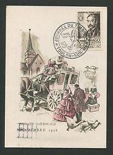 FRANCE MK 1948 JOURNEE TIMBRE TOULON MAXIMUMKARTE CARTE MAXIMUM CARD MC CM d1641