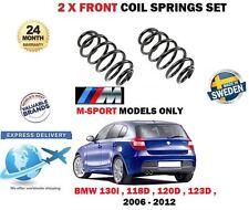 Per BMW 130i 118D 120D 123D M Sport E81 E82 E87 2006 - > 2x Anteriore Molla Elicoidale Set