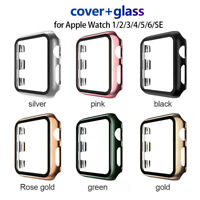 Watch Cover Case for Apple Watch 6/5/4 40/44MM PC Full Protector With Glass Flim