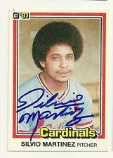 SILVIO MARTINEZ 1981 DONRUSS SIGNED # 429 CARDINALS **RARE**