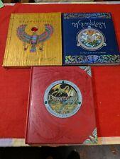 Lot 3 OLOGY Hardcover Books - Dragonology Egyptology Wizardology