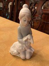 "Lladro ""Shepard Boy"" Figurine With Lamb, Matte Finish"