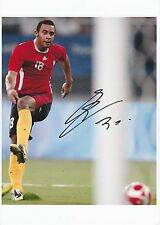 MOUSSA DEMBELE BELGIUM INTERNATIONAL 2006- ORIGINAL HAND SIGNED LARGE PHOTOGRAPH