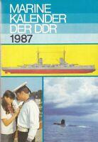 Marine Kalender der DDR 1987, Militärtechnik, NVA/Marine, Schiffe, Schiffstypen