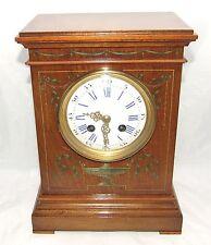 Antique French Hepplewhite Style Mahogany Mantel Bracket Clock CLEANED SERVICED