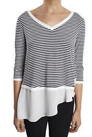Joseph Ribkoff Navy/White Stripe 3/4 Length Sleeve Top Blouse 182900 New Season