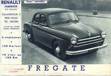 Renault Fregate Affaires Dutch market sales brochure
