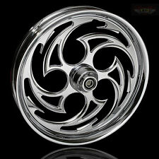 "Harley Davidson Road Glide 21"" Inch Chrome Front Wheel ""Predator"" FTD Customs"