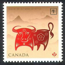 Canadá 2009 yo Buey/saludos/estacional/año nuevo 1 V n24315