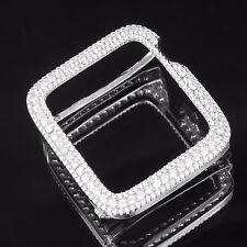 Custom Apple Watch Bezel Simulated Diamond Sterling Silver 42 MM Mens Ladies New