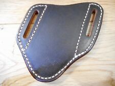 Custom Pancake Leather knife Sheath. Left or right draw. Fits a Buck 110/112
