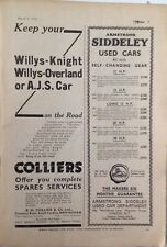R.H. Collier & Co, Ltd, & Armstrong Siddeley Cars,  Vintage Magazine Advert 1934