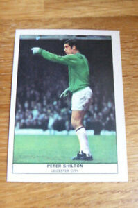ANGLO GUM CARD FOOTBALL QUIZ #38 PETER SHILTON LEICESTER CITY 1969  MINT