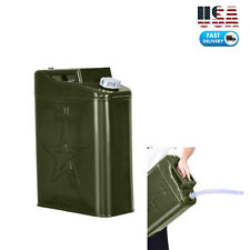 Green 20L Liter (5 Gallon Gal) Jerry Can Backup Steel Tank Fuel Gas Gasoline
