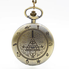 Gravity Falls Uhr Pocket Watch Necklace Serie TV Series Dipper Mabel #1