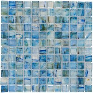 Classic Uniform Square Light Green Glossy Glass Backsplash Mosaic Tile MTO0083