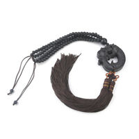 Car Pendant Ebony Wood Chinese Fengshui Dragon Sculpture Prayer Hang Decorations